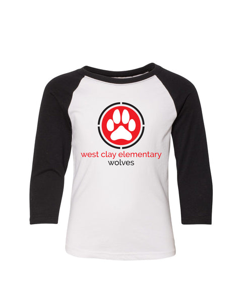 West Clay Elementary Youth Three-Quarter Sleeve Raglan SP2