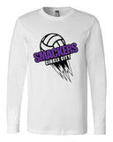 Circle City Smackers Volleyball Long Sleeve Jersey Tee SP - L&M Spirit Gear  - 2