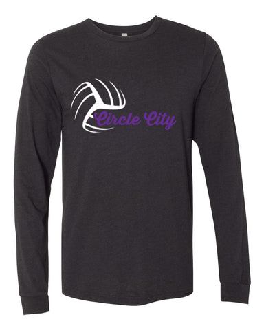 Circle City 12 Black En Fuego- Unisex Long Sleeve Tee - SP2