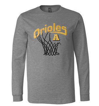 Orioles Basketball Glitter Long Sleeve - L&M Spirit Gear
