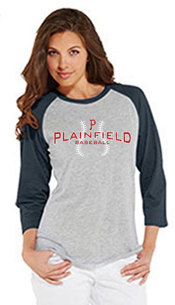 Women's 3/4 Sleeve Baseball Tee - L&M Spirit Gear