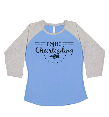 Perry Meridian Cheer Baseball Shirt GLITTER