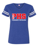 Plainfield Show Choirs Women's Football Jersey Tee - FEMMES FATALES - SP