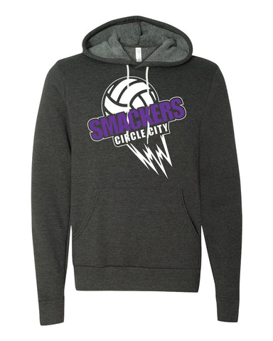 Circle City Smackers Volleyball Unisex Hooded Pullover Sweatshirt SP - L&M Spirit Gear  - 1
