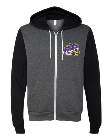 Circle City Crush Volleyball Unisex Full-Zip Hooded Sweatshirt SP - L&M Spirit Gear