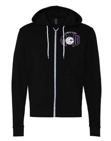 Circle City Mojo Volleyball Unisex Full-Zip Hooded Sweatshirt SP