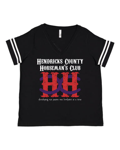 HCHC Curvy Collection Football Tee