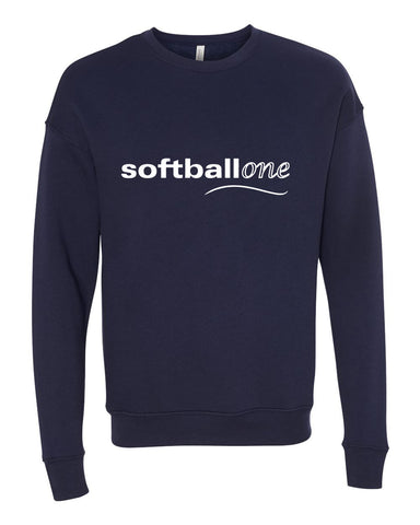 Softball one Unisex Drop Shoulder Sweatshirt SP - L&M Spirit Gear  - 1