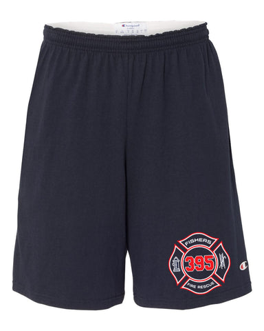 "Fishers Fire 395 9"" Inseam Cotton Jersey Shorts with Pockets SP - L&M Spirit Gear"