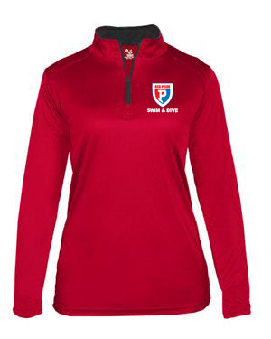 Plainfield Swimming Parent Gear Women's Quarter Zip - EMB