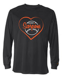 Scorpions Baseball B-Core Men's Long Sleeve T-Shirt SP Heart - L&M Spirit Gear  - 1