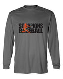 Scorpions Baseball B-Core Long Sleeve T-Shirt SP2 - L&M Spirit Gear  - 1