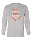 Scorpions Baseball B-Core Men's Long Sleeve T-Shirt SP Heart - L&M Spirit Gear  - 2
