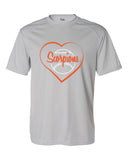 Scorpions Baseball B-Core Short Sleeve T-Shirt SP Heart Glitter - L&M Spirit Gear  - 2