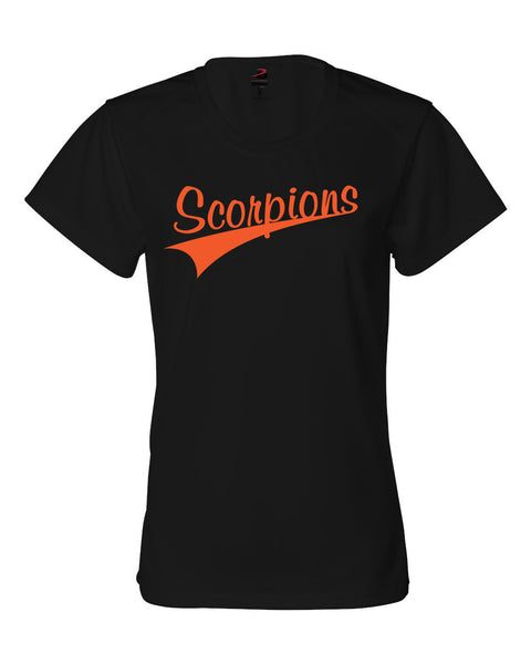 Scorpions Baseball B-Core Women's Crewneck T-Shirt SP4 - L&M Spirit Gear  - 1