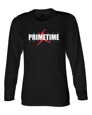 Indiana Primetime Softball B-Core Women's Long Sleeve T-Shirt SP - L&M Spirit Gear  - 1