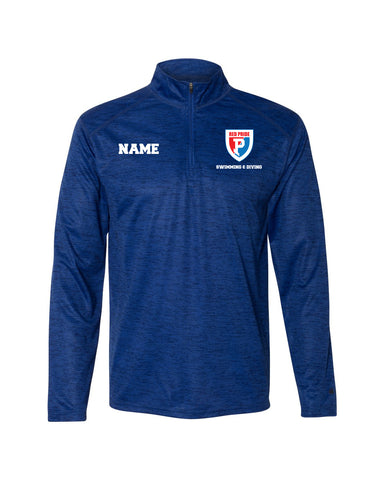 Plainfield Girls Swimming & Diving Lightweight Quarter Zip - EMB