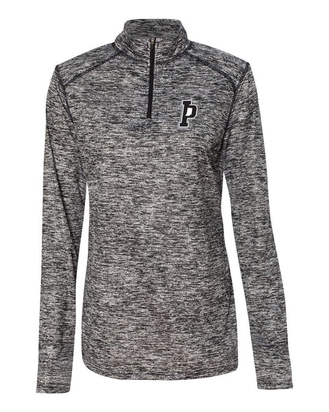 Indiana Primetime Softball Blend Women's Quarter-Zip Pullover EMB - L&M Spirit Gear  - 1