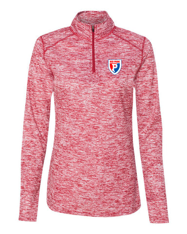 Plainfield Soccer Blend Women's Quarter-Zip Pullover EMB - L&M Spirit Gear