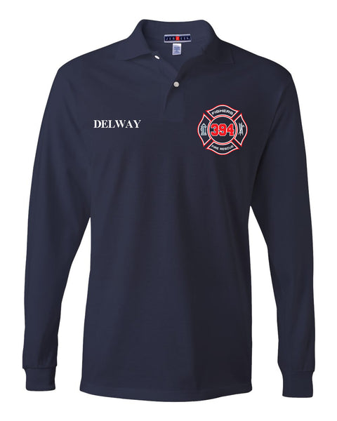 Fishers Fire 394 SpotShield Long Sleeve Jersey Sport Shirt EMB - L&M Spirit Gear