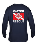 Fishers Fire Department Water Rescue Extreme Cotton Long Sleeve T-Shirt SP4 - L&M Spirit Gear