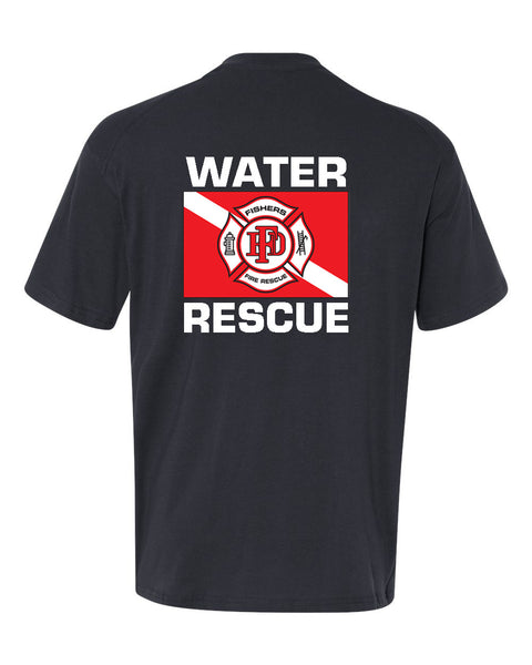 Fishers Fire Department Water Rescue Extreme Cotton Short Sleeve T-Shirt SP4 - L&M Spirit Gear