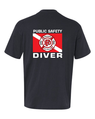 Fishers Fire Department Water Rescue Extreme Cotton Short Sleeve T-Shirt SP5