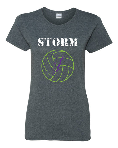 Storm Volleyball Heavy Cotton Women's Short Sleeve T-Shirt SP - L&M Spirit Gear