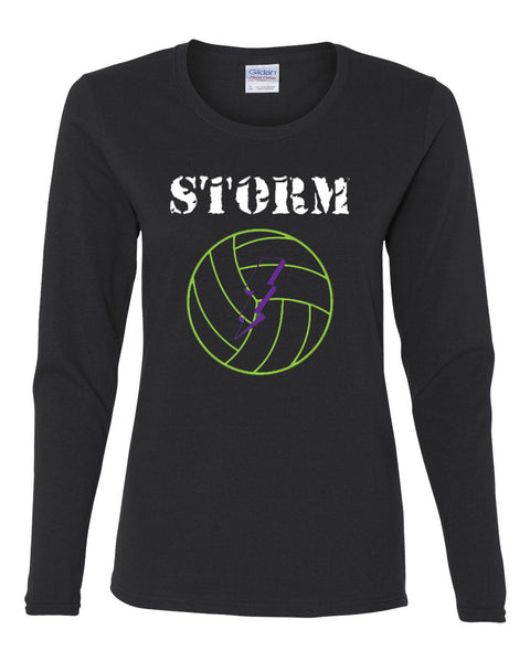 Storm Volleyball Heavy Cotton Women's Long Sleeve T-Shirt SP - L&M Spirit Gear