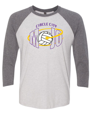 Circle City Mojo Volleyball Unisex Three-Quarter Sleeve Raglan Tee SP