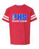 Plainfield Show Choirs Youth Football Jersey Tee - SHOW CHOIR - SP