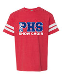 Plainfield Show Choirs Youth Football Jersey Tee - SHOW CHOIR - GLITTER