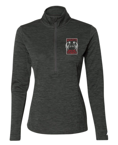 Select Show Horses Women's Stealth 1/4 Zip With Embroidery - L&M Spirit Gear