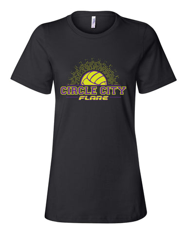 Circle City Flare Volleyball Women's Relaxed Short Sleeve Jersey Tee SP - L&M Spirit Gear  - 1