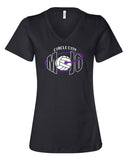 Circle City Mojo Volleyball Women's Short Sleeve V-Neck Tee SP