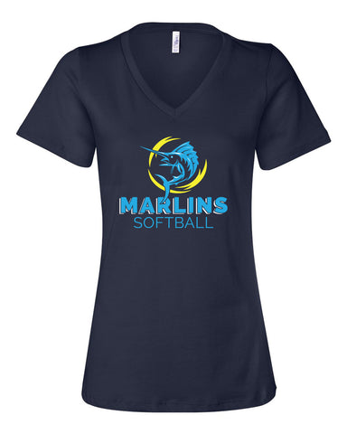 Marlins Softball Women's V-Neck - SP
