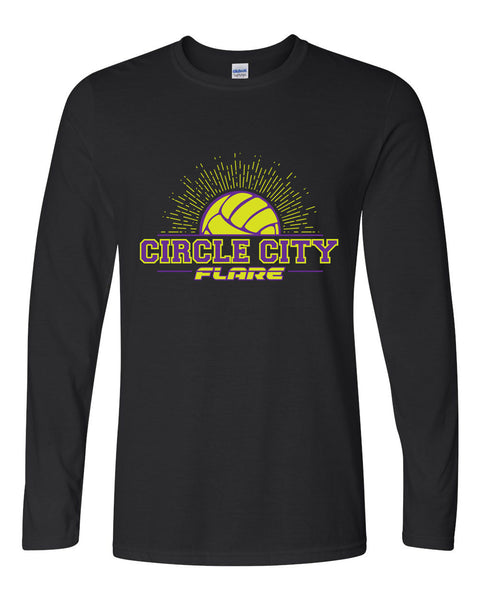 Circle City Flare Volleyball Softstyle Long Sleeve T-Shirt SP - L&M Spirit Gear  - 1