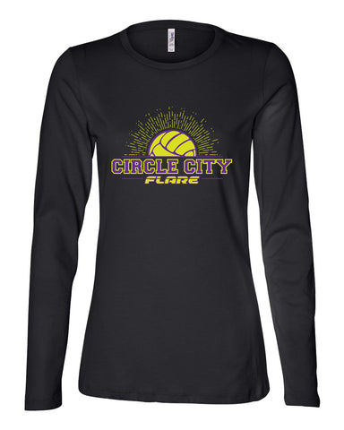 Circle City Flare Volleyball Women's Relaxed Long Sleeve Jersey Tee SP - L&M Spirit Gear  - 1