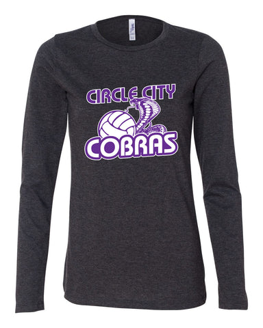 Circle City Cobras Volleyball Women's Relaxed Long Sleeve Jersey Tee SP - L&M Spirit Gear