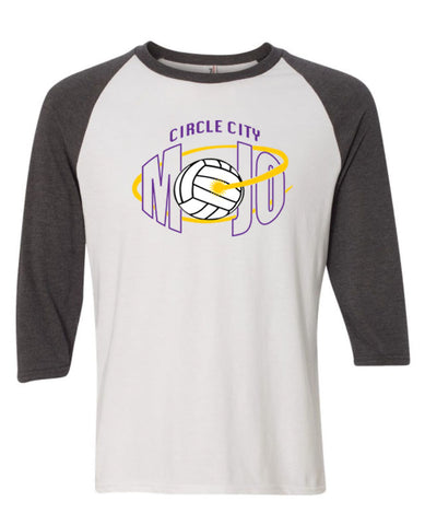 Circle City Mojo Volleyball  Raglan Sleeve T-Shirt SP
