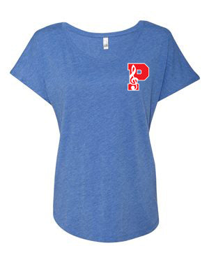 Plainfield Show Choirs Women's Dolman Tee - FLAT
