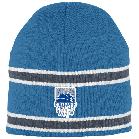 Indiana Blizzard Striped Knit Beanie EMB - L&M Spirit Gear