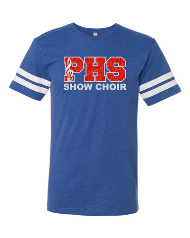 Plainfield Show Choirs Adult Football Jersey Tee - SHOW CHOIR - GLITTER