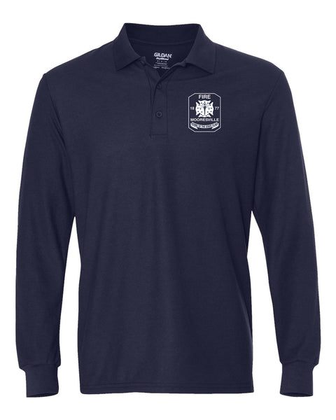 Mooresville Fire Department - Long Sleeve Sport Shirt - EMB