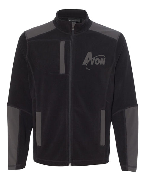 Avon Band Black/Charcoal Explorer DDX Full-Zip Microfleece Nylon Jacket EMB - L&M Spirit Gear