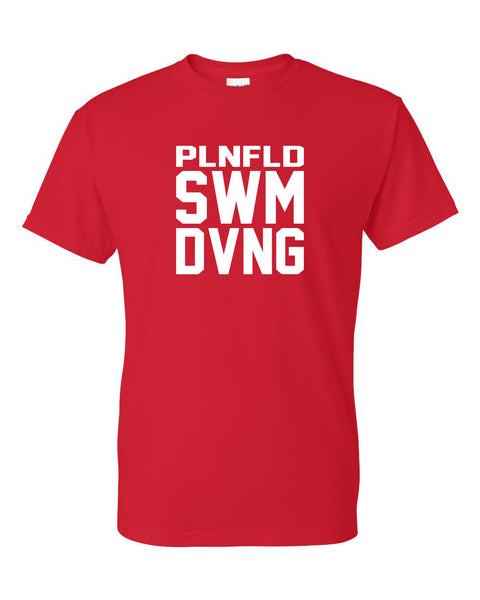 Plainfield Swimming Parent Gear Short Sleeve Tee - SP1