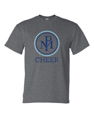 Perry Meridian Cheer Dark Heather DryBlend 50/50 T-Shirt SP1 - L&M Spirit Gear