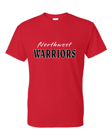 Northwest Warriors Basketball Dry Blend Short Sleeve Tee Glitter - L&M Spirit Gear  - 1