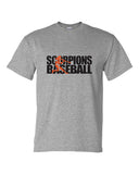Scorpions Baseball Dry Blend Short Sleeve Tee SP2 - L&M Spirit Gear  - 2