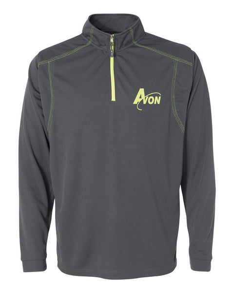 Avon Band Shadow Mesh 1/4 Zip Pullover EMB - L&M Spirit Gear